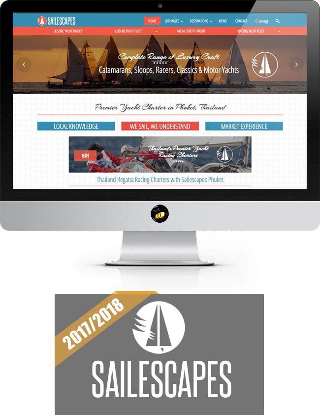 sailescapes-yacht-charter-website desin development finflix phuket